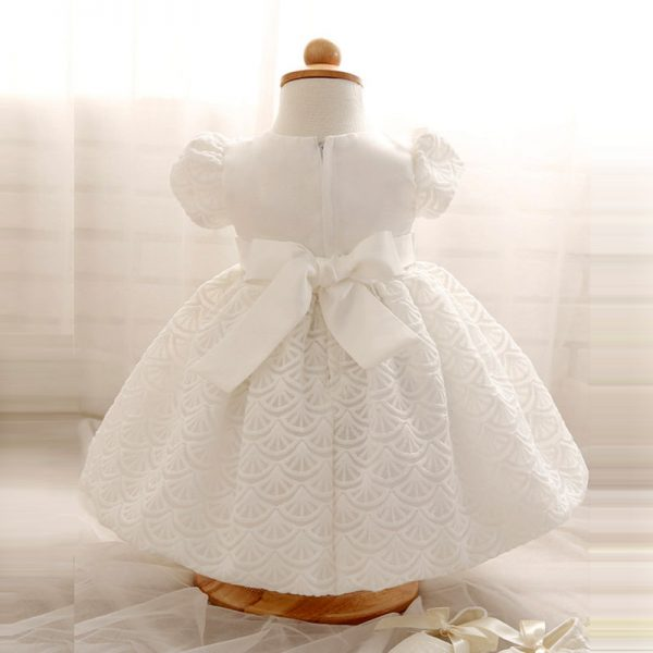 Aini Babe Baby Girl Children Naming Baptism Christening Church White Lace Gown Dress