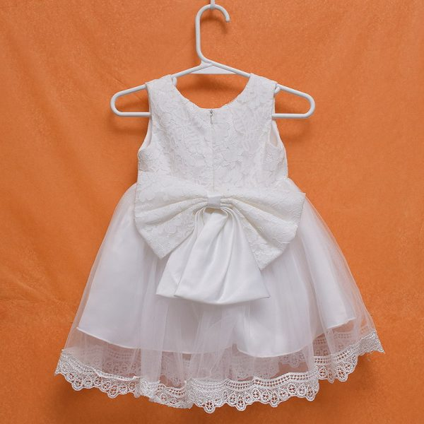 Exotic Baby Girl Naming Baptism Sleeveless Lace Gown Dress