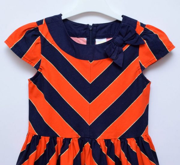 Gymboree Girls Elegant Party Wedding Red Blue Dress With Bow