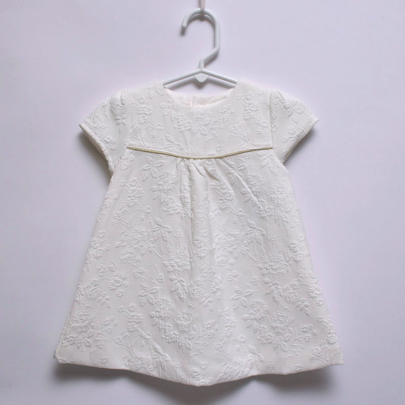 Mamas & Papas Baby Girl Quality Designer White Cotton Dress