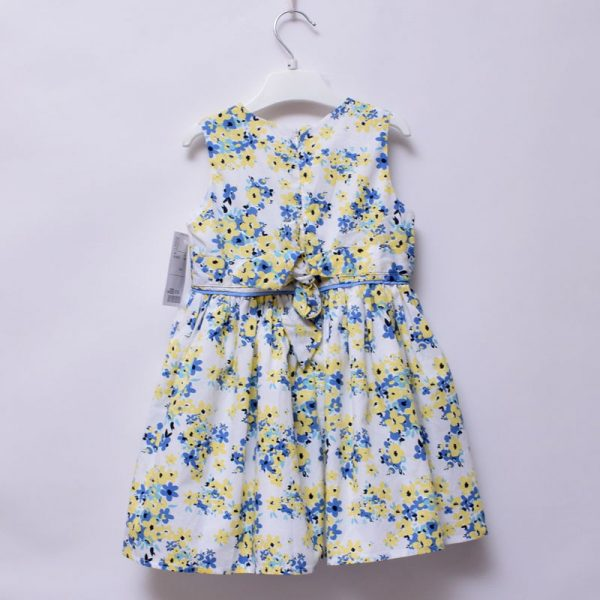 Minoti 18-24 Months Toddler Girls Special Occasion Church Sleeveless Cotton Dress