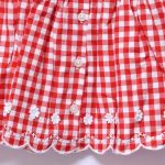 Next Baby Girls Indoor Outdoor Casual Sleeveless Button Checked Embroidery Dress