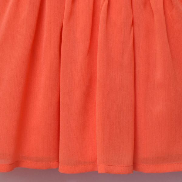 Next UK 12 18 24 Months 2 3 Years Girls Party Outing Special Occasion Orange Dress