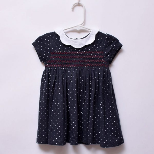 Next UK 6-9 Months Baby Girls Outdoor Indoor Casual Elastic Chest Cotton Dress