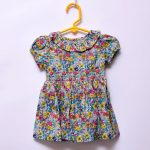 Next UK Baby Girls Outing Special Occasion 100% Cotton Elastic Puff Sleeve Dress