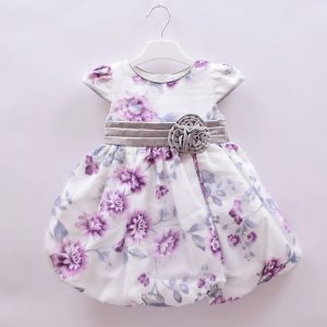 TIA London Baby Girls 0-3 Months New Cute Flower White Dress
