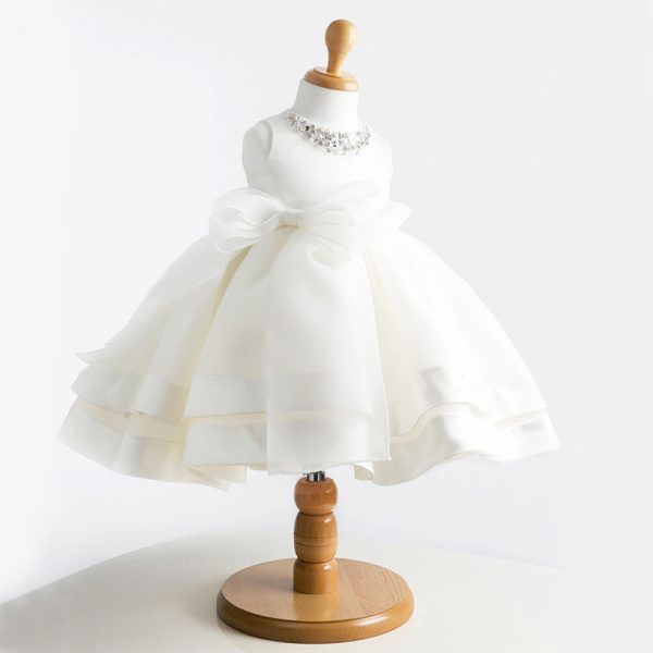 Babzapleume Baby Girl Children Naming Baptism Christening Church White Lace Gown Dress