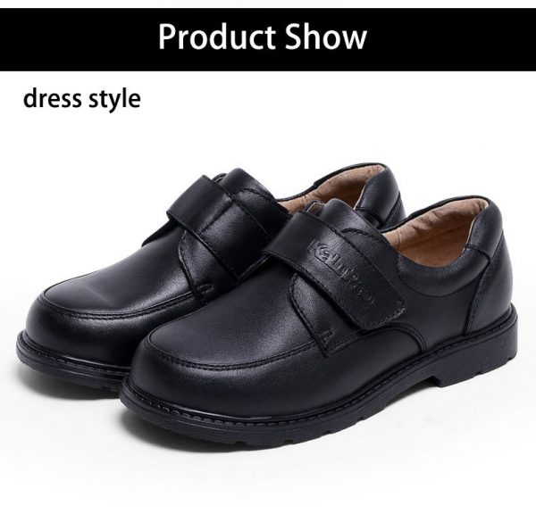 KaluPao Boys Kids Children Dressing School Church Wedding Party Black Leather Deluxe Shoe