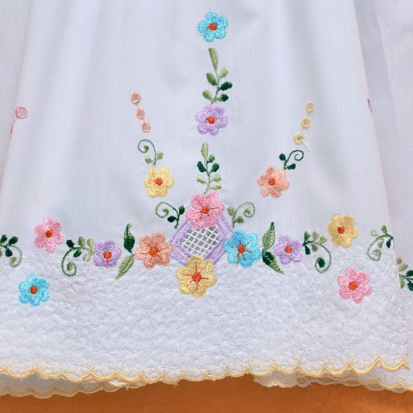 Cute Flower Baby Girl 100% Cotton Sleeveless Straight Dress