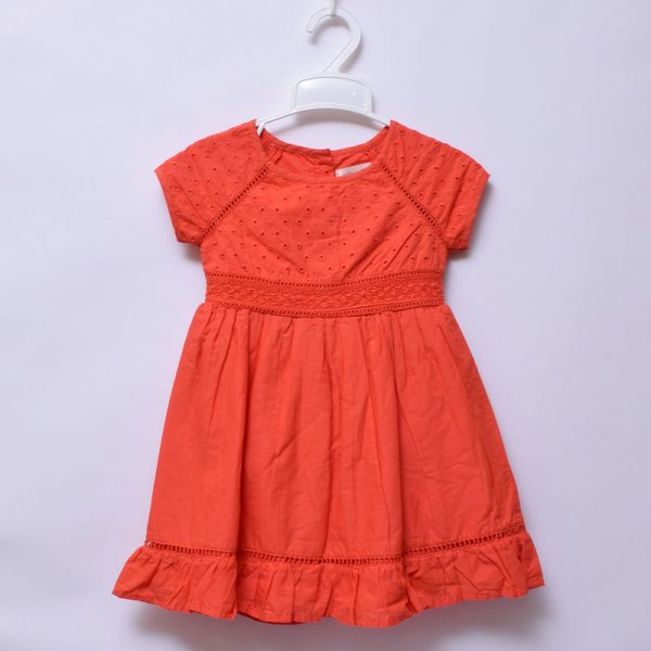 Kaisely 2-3 Years Toddlers Girls Outing Special Occasion Cotton Embroidery Dress