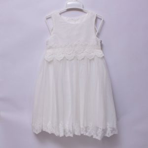 Mothercare Girls Kids Party Wedding Church Occasion White Sleeveless Lace Dress