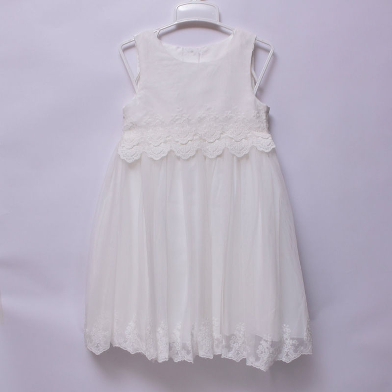 ddd13a8bd10 Mothercare Girls Kids Party Wedding Church Occasion White Sleeveless Lace  Dress – Deluxe Closet GH
