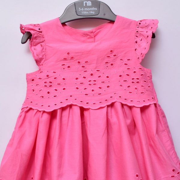 Mothercare UK 3-6 Months Baby Girl Special Occasion Quality 2 Piece Cotton Dress