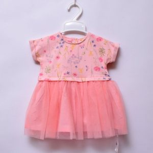 7a06235568c Mothercare UK Baby Girls Cotton Baby Pink Lace Mesh Tutu Dress