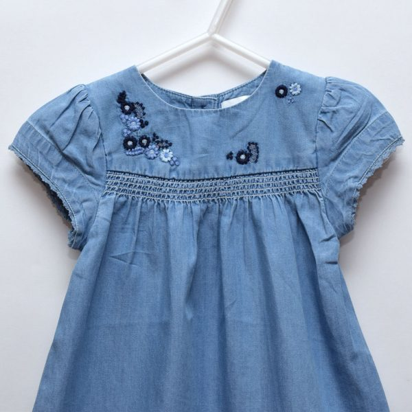 Next Baby Girl Toddler Cotton Exotic Flower Embroidery Dress