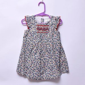 Next Baby Girls Toddler Casual Outing Indoor Outdoor Cotton Floral Zig-Zag Dress