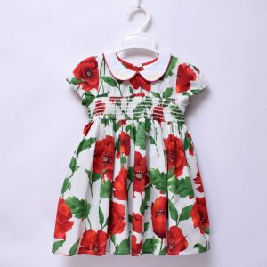 Next UK 3-24 Months Baby Girls Party Wedding Occasion Pure Cotton Hibiscus Dress