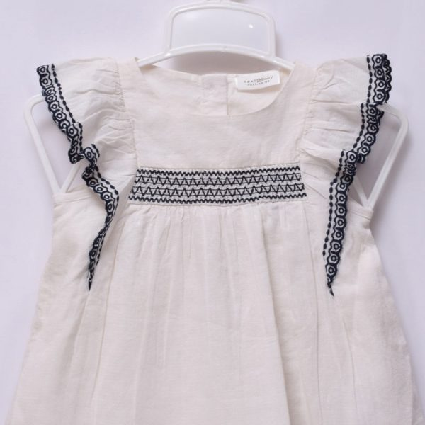 Next UK Baby Girls 3-6 Months Hot Summer Casual Occasion Cotton Embroidery Dress