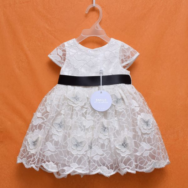 Smile Julien MacDonald Quality Baby Girl Lace Cotton Dress
