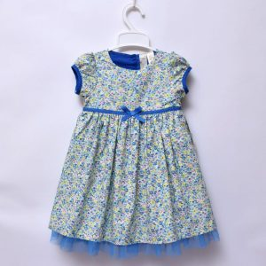 Strawberry Faire 2-3 Years Girls Party Wedding Outing Occasion Blue Flower Dress