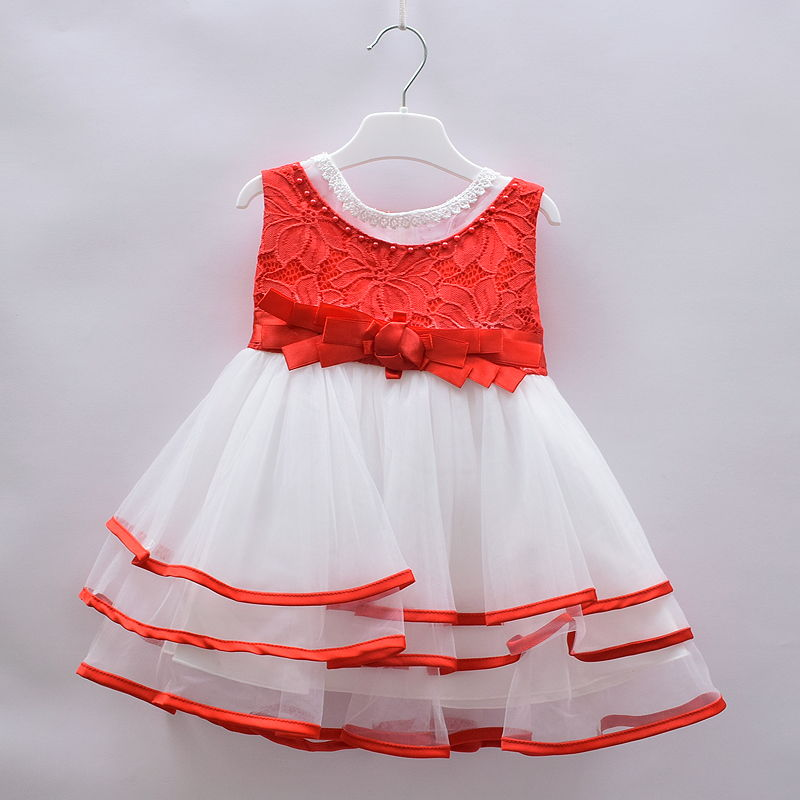 4822fefccba TIA London Baby Girls Red White Party Wedding Outing Dress – Deluxe Closet  GH