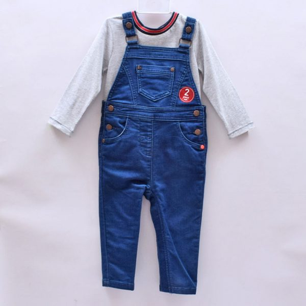 Next UK Baby Boy Toddler Cotton Jumpsuit Overall Denim Jeans