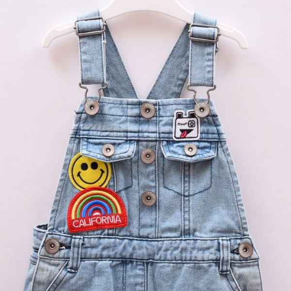 Next UK Girls New Jeans Denim Overall Bib-and-brace Dungaree