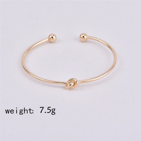 crazy feng 2 pcs slim simple arrow knot bangle women girls bracelets watch chains necklace earrings rings wrist neck jewellery engagement wedding promise fashion deluxe closet gh accra ghana 30