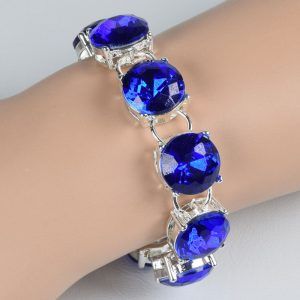high quality silver colour blue crystal bracelet for women bracelets bangles jewelry jewellery charm chain link strand cuff wrap women men girls wedding fashion deluxe closet gh accra ghana 10