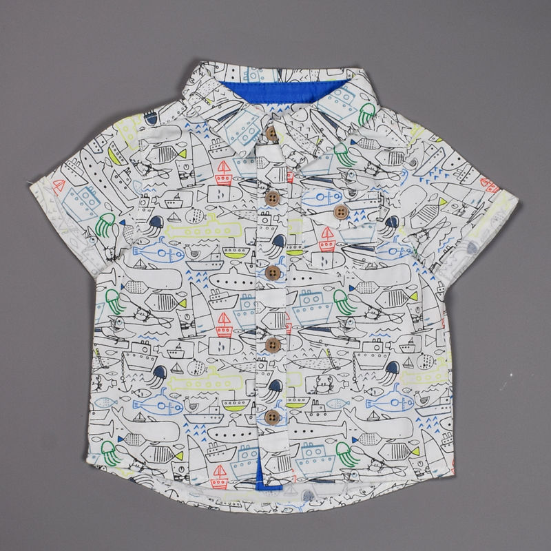 38b5431f3ab3 Tu Baby Boys 3-6 Months Old Pure Cotton Short Sleeve Shirt – Deluxe ...