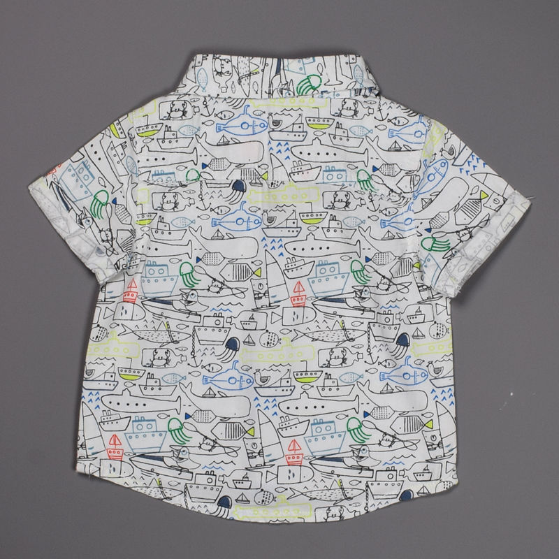 tu baby boys 3-6 months old pure cotton short sleeve shirt suit jacket top 90bfcf237f