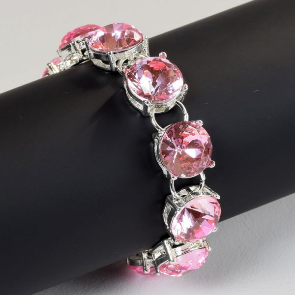 high quality peach crystal chain link bracelets for women bracelets bangles beads fashion accessories jewelry jewellery charm chain necklaces women men girls deluxe closet gh accra ghana 10