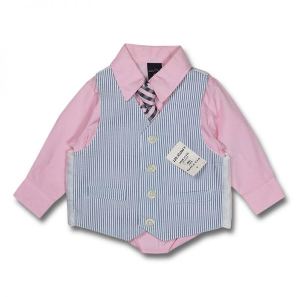 nautica 18 months boys long sleeves vest tie trouser set dress shirt shorts trouser pant match top down boys girls baby clothing party birthday suit years old deluxe closet gh accra ghana 10