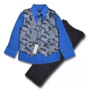 vittrino 4 years boys blue long sleeve vest tie trouser set dress shirt shorts trouser pant match top down boys girls baby clothing party birthday suit years old deluxe closet gh accra ghana 40